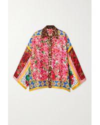 Dolce & Gabbana Printed Silk Shirt - Pink