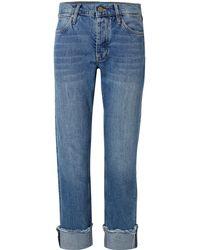 M.i.h Jeans Phoebe Frayed Boyfriend Jeans - Blue