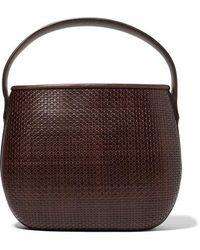 Tl-180 Ida Woven Leather Tote - Brown