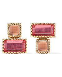 Larkspur & Hawk - Cora 14-karat Gold Quartz Earrings - Lyst