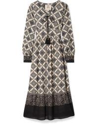 Figue - Nova Printed Gauze Midi Dress - Lyst