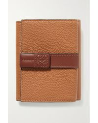 Loewe - Two-tone Textured-leather Wallet - Lyst