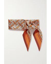 Burberry Tuch Aus Maulbeerseiden-twill Mit Print - Orange