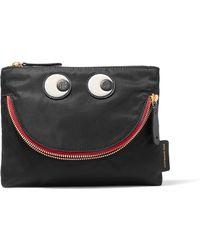 Anya Hindmarch - Happy Eyes Appliquéd Shell Cosmetics Case - Lyst