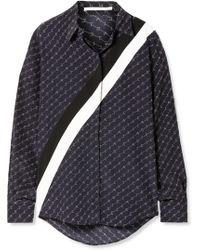 Stella McCartney - Navy Silk Monogram Shirt - Lyst