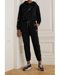 Reebok X Victoria Beckham French Cotton-terry Track Pants - Black