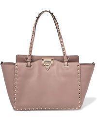 Valentino - Garavani The Rockstud Leather Trapeze Bag - Lyst
