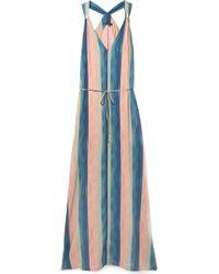 ViX - Mani Julie Belted Striped Voile Maxi Dress - Lyst