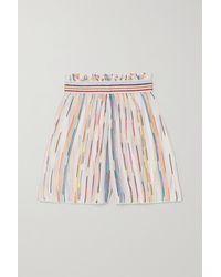 Missoni Mare Crochet-knit Shorts - White