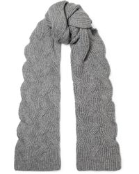 Johnstons - Cable-knit Cashmere Scarf - Lyst