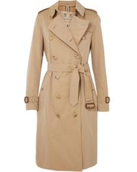 Burberry Trench-coat En Gabardine De Coton The Chelsea - Neutre