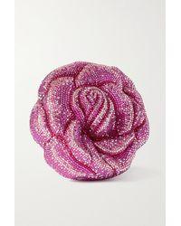 Judith Leiber Rose Josephine Silberfarbene Clutch Mit Kristallen - Pink