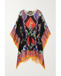 Dolce & Gabbana Printed Silk Kaftan - Blue