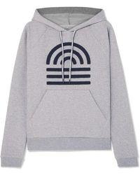 LNDR Horizon Appliquéd Stretch-cotton Jersey Hoodie - Gray