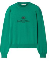 Balenciaga - Embroidered Wool Sweater - Lyst