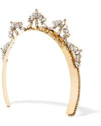 LELET NY - Nat Gold-plated Swarovski Crystal Headband - Lyst