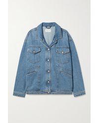 Magda Butrym Oversized Denim Jacket - Blue