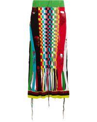 Wanda Nylon - Knit Midi Skirt - Lyst