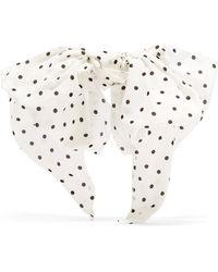 Alessandra Rich - Polka-dot Silk Crepe De Chine Hairclip - Lyst