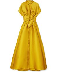Alexis Mabille - Tie-detailed Satin-piqué Gown - Lyst