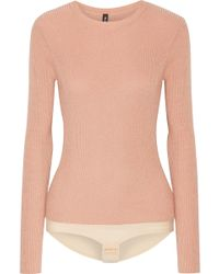 TUXE Bodywear - Pacesetter Metallic Ribbed-knit Bodysuit - Lyst