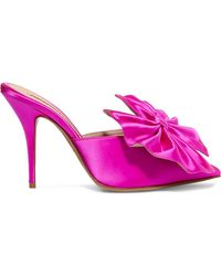 Alexandre Vauthier - Kate Bow-embellished Satin Mules - Lyst