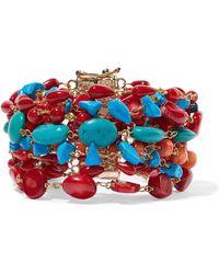 Rosantica - Prato Fiorito Gold-tone Beaded Bracelet - Lyst