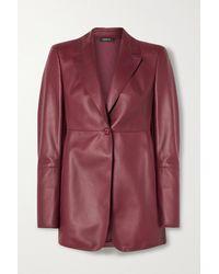Akris Leather Blazer - Red