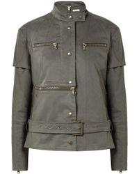 Tomas Maier Convertible Cotton-blend Jacket Army Green - Multicolour