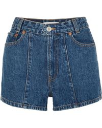 Solid & Striped - + Re/done The Venice Denim Shorts - Lyst