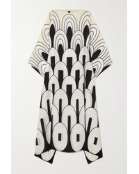 Louisa Parris Robe Midi En Crêpe De Chine De Soie Imprimé Clary - Multicolore