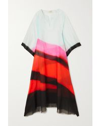 Dries Van Noten - Cartland Striped Cotton-voile Kaftan - Lyst
