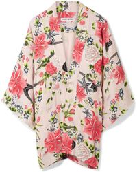 Elizabeth and James - Drew Floral-print Chiffon Jacket - Lyst