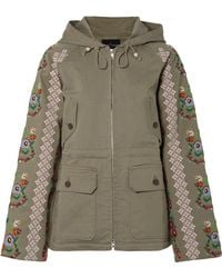 Needle & Thread - Embroidered Cotton-blend Canvas Jacket - Lyst