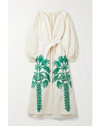 Johanna Ortiz Moon Sight Appliquéd Cotton-poplin Maxi Dress - Multicolour