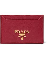 f6b9c9e199421 Lyst - Chloé Drew Textured-leather Cardholder Red One Size in Red