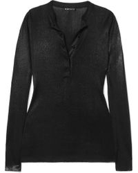 Tom Ford - Coated Knitted Top - Lyst