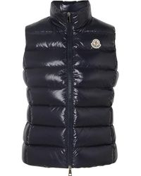 Moncler Quilted Shell Down Vest - Blue
