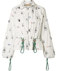 Burberry - Printed Shell Jacket - Lyst