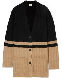By Malene Birger - Congoe Striped Knitted Cardigan - Lyst