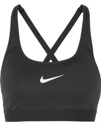 Nike - Classic Dri-fit Mesh-trimmed Stretch Sports Bra - Lyst