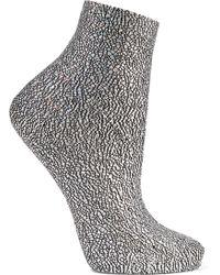 Maria La Rosa - Universe Metallic Silk-blend Socks - Lyst