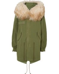 Mr & Mrs Italy - Hooded Shearling-trimmed Cotton-canvas Parka - Lyst