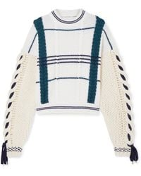 Carven - Cable-knit Wool And Alpaca-blend Sweater - Lyst