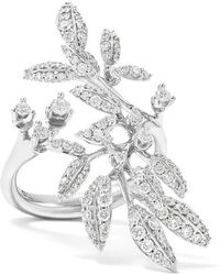 Ole Lynggaard Copenhagen Winter Frost 18-karat White Gold Diamond Ring - Multicolour