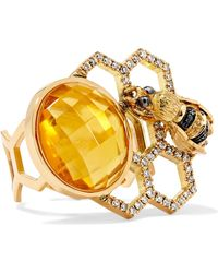 Delfina Delettrez - 18-karat Gold Multi-stone Ring - Lyst