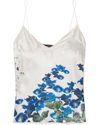 Meng - Printed Silk-satin Camisole - Lyst