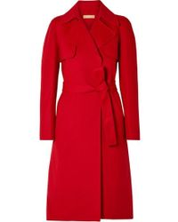 Michael Kors Trenchcoat Aus Wolle - Rot