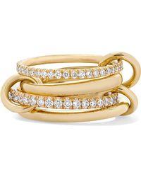 Spinelli Kilcollin - Set Of Four 18-karat Gold Diamond Rings Gold 7 - Lyst