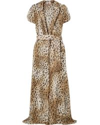 Adriana Degreas - + Charlotte Olympia Leopard-print Silk-chiffon Robe - Lyst